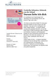 Darum liebe ich dich - Verlag Antje Kunstmann