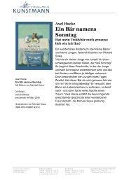 Axel Hacke Ein Bär namens Sonntag - Verlag Antje Kunstmann