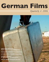 Quarterly 4 · 2006 - German Cinema