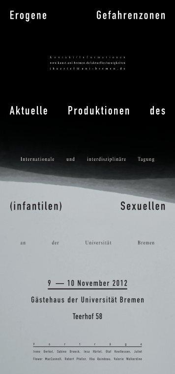 Erogene Gefahrenzonen Aktuelle Produktionen des (infantilen ...