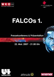15 Jahre Wiener Einkaufsstraßen - FALCOllection