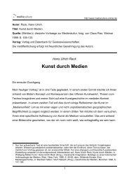 Kunst durch Medien - Mediaculture online