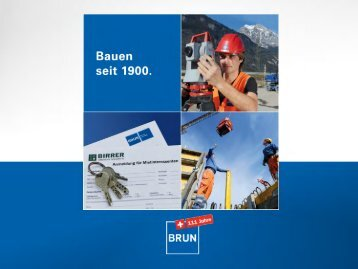 111 JAHRE FIRMA BRUN - Brun AG