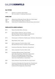 Biografie als PDF - Galerie Kornfeld