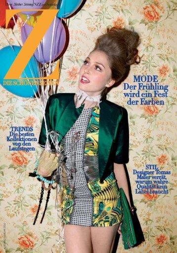 MODE Der Frühling wird ein Fest der Farben - Neue Zürcher Zeitung