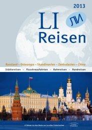 LI Reisen 2013 - Reisen nach Russland bei LI Reisen