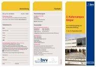 2. Kulturcampus Körper - Bayerischer Volkshochschulverband