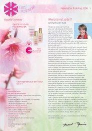 Newsletter Frühling 2008 - Life Resonance