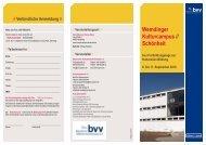 Der Flyer zum Kulturcampus 2010 - Bayerischer ...