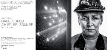 Marco Grob & hiepler, brunier, - Kunstmuseum Bern