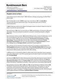 Biography James Lee Byars (pdf) - Kunstmuseum Bern