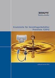 Ersatzteile für Heizöllagerbehälter Preisliste 1 - Schutz GmbH & Co ...