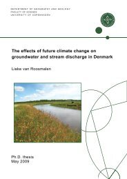 The effects of future climate change on groundwater and ... - Fiva