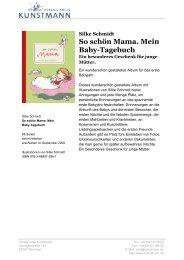 So schön Mama. Mein Baby-Tagebuch - Verlag Antje Kunstmann