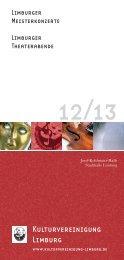 Das Programm 2012/2013 zum Download - Kulturvereinigung ...