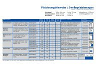 Platzierungshinweise / Sonderplatzierungen - Südkurier