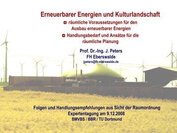Erneuerbarer Energien und Kulturlandschaft - TU Dortmund