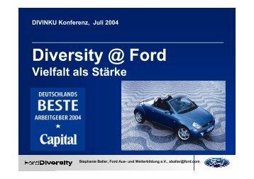 Diversity @ Ford - DIVINKU, Diversity als Innovationskultur