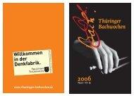 Programm der Thüringer Bachwochen 2006 - Bach Cantatas