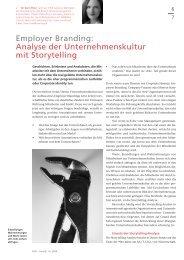 Employer Branding: Analyse der Unternehmenskultur mit Storytelling