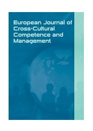 European Journal of Cross-Cultural Competence and ... - kulturion