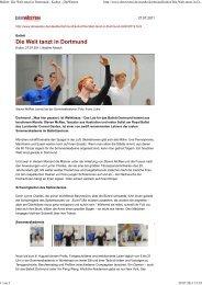 Ballett: Die Welt tanzt in Dortmund - Kultur - DerWesten