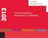 Seminarprogramm Management-Ausbildung - St. Galler Business ...
