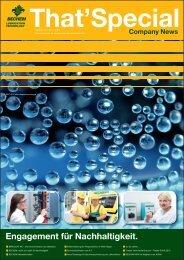 Engagement für Nachhaltigkeit. - Carl Bechem GmbH