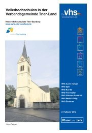 Volkshochschulen in der Verbandsgemeinde Trier-Land