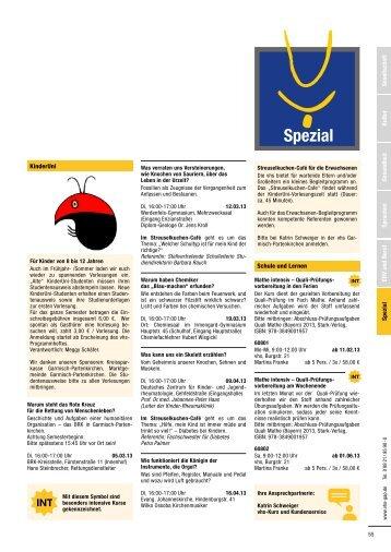 Gesellschaft Kultur Gesundheit Sprachen EDV und Beruf Spezial ...