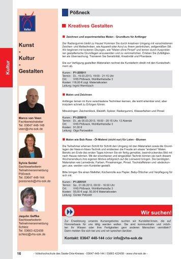 Kultur - Volkshochschule des Saale-Orla-Kreises