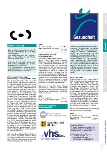 Kultur Sprachen EDV und Beruf Spezial Gesundheit Gesellschaft ...