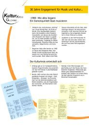 30 Jahre Engagement für Musik und Kultur... - Kulturkreis Gilching
