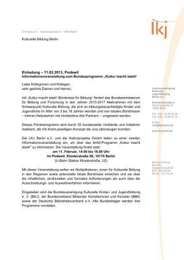 Einladung - Bundesvereinigung Kulturelle Kinder- und ...