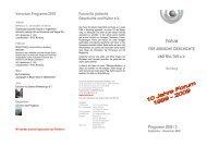 Vorschau Programm 2010 Forum für jüdische Geschichte und Kultur ...
