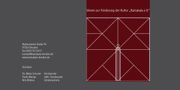 """Verein zur Förderung der Kultur """"Kamakala e.V."""" - The Artists Body"""