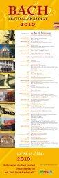 19. bis 28. März 2010 - Bach Cantatas
