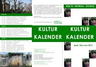 KULTUR KALENDER KULTUR KALENDER - EFEU eV