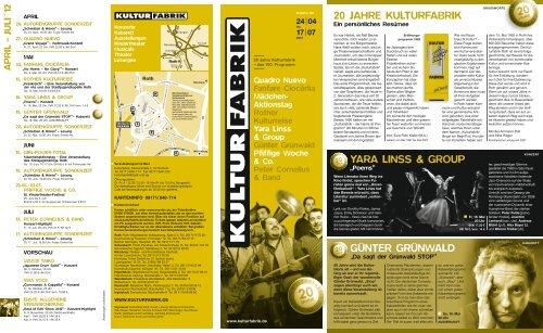 20 jahre kulturfabrik yara linss & group günter grünwald