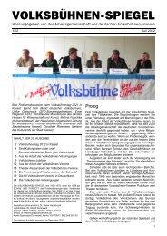 Volksbühnen-Spiegel 1/2012 - Freie Volksbühne Berlin