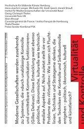 Virtualität und Ko ntrolle - Hans-Joachim Lenger