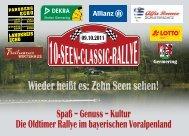 Spaß – Genuss – Kultur Die Oldtimer Rallye im bayerischen ...