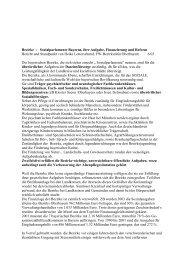 Bezirke - Sozialparlamente Bayerns, ihre Aufgabe, Finanzierung ...