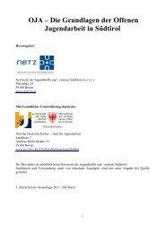 Handbuch Grundalgen der OJA in Südtirol_Textversion - N.e.t.z.