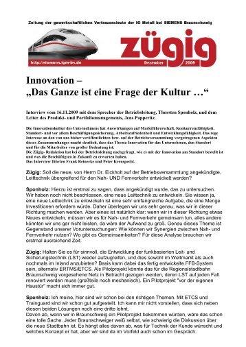 """Innovation – """"Das Ganze ist eine Frage der Kultur …"""" - IG Metall ..."""