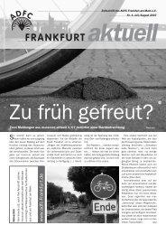 www .adfc-Frankfurt.de