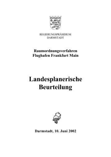 Landesplanerische Beurteilung - Deutscher Fluglärmdienst eV