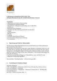 Protokoll DV 09.03.2012 - Kleintiere Schweiz