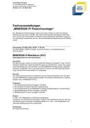 MINERGIE-P/ Passivhaustage - Olma Messen St.Gallen