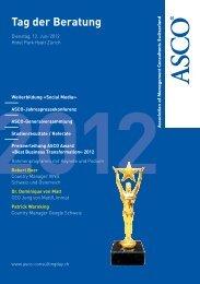 Flyer Tag der Beratung 2012 - ASCO